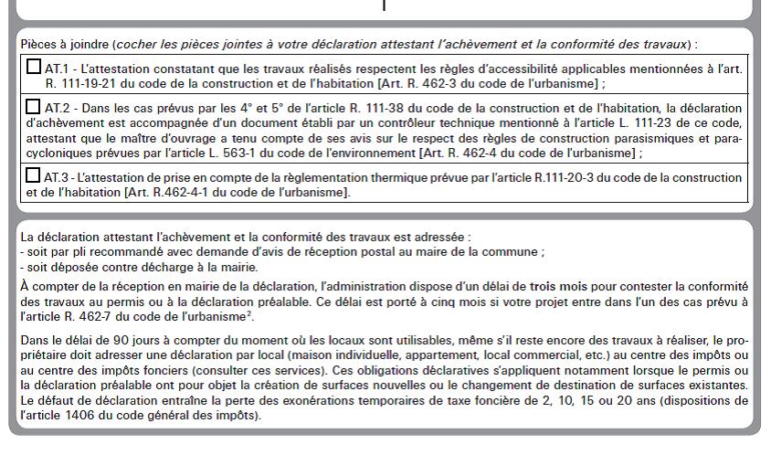 Attestation Thermique D Achevement De Travaux At 3